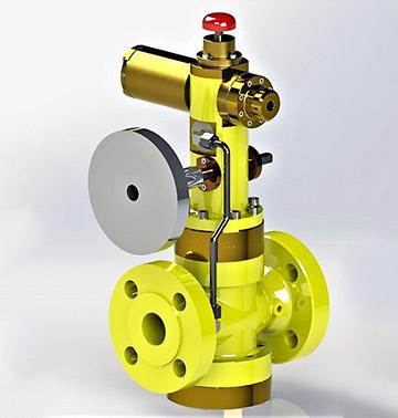 Предхранително запорный отсечный клапан тип: 610-SPV-VP